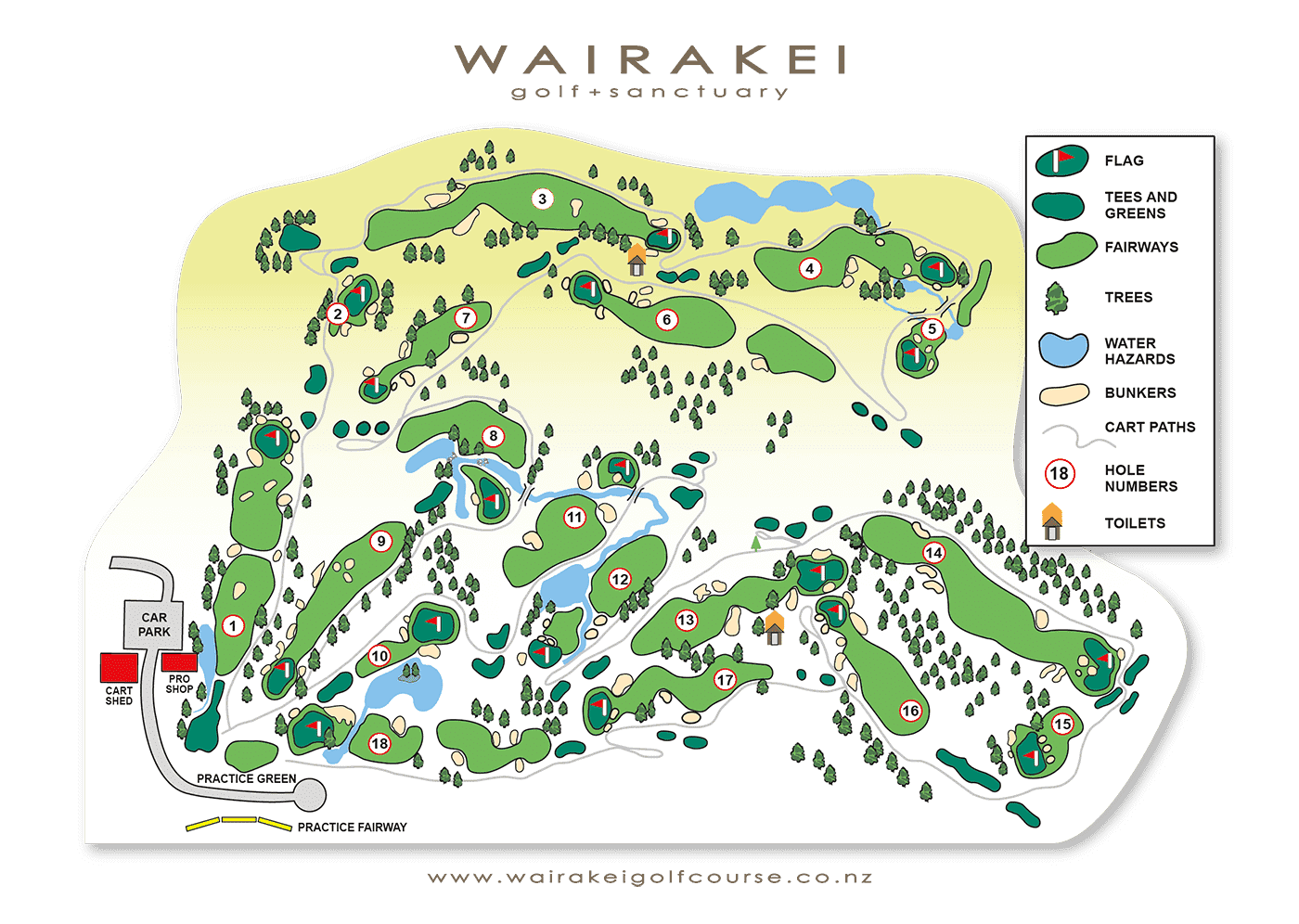 Wairakei International Golf Course | Best Golf Courses in New Zealand | New Zealand Golf Courses